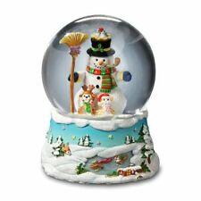 "San Francisco Music Box Gary Patterson ""Happy Holidays"" Snowman Snow Globe"