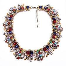 Fashion rhinestone Crystal  alloy Short Statement Party necklace  UK