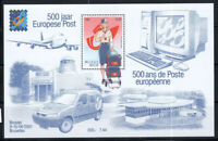 Belgio 2001 Mi. Bl.81 Foglietto 100% Nuovo ** Posta, emblema