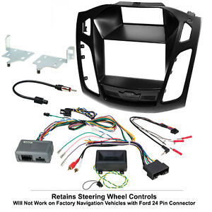 2012 - 2014 Ford Focus Complete Radio Stereo Installation Package Retains SWC