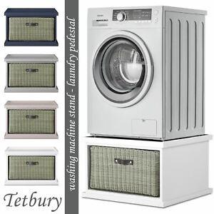 Tetbury washing machine stand with storage. Dryer pedestal with drawer.ASSEMBLED
