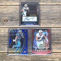 Christian McCaffrey Carolina Panthers Card Lot Obsidian Auto Select Blue /149 RC