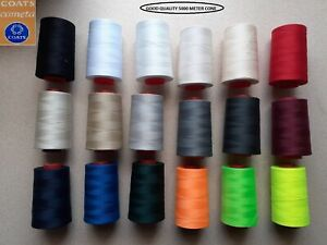 COATS High Quality 5000M 120s Overlocking Polyester Sewing Thread All Colour