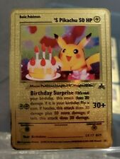Birthday Pikachu Gold Card