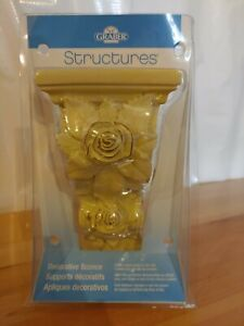 """Graber Structures Decorative Sconce Roses Scroll Off-White Cream 5"""" Tall NEW"""