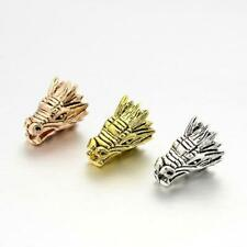 10 x Dragon Head Charms 17mm Mixed Colours Pendant