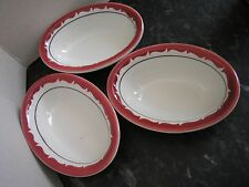 Set of 3 DURALINE Super Vitrified Grindley Hotelware Small Dishes 12.5x9x4cm