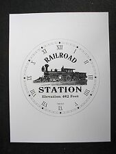 "(005) Clock Face Railroad Station Locomotive Steam Engine Railwaytrain 6.5"" Dial"