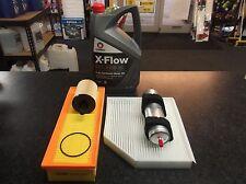 AUDI A4 (B8) 2.0 TDI SERVICE KIT OIL AIR FUEL CABIN /POLLEN FILTERS 5L OIL XFLOW