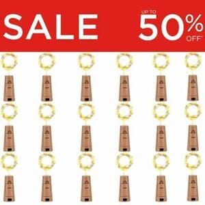 Bottle Fairy String Lights Battery Cork Shaped Christmas Wedding Party LED Wine