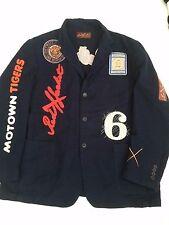 new Detroit Tigers men's jacket blazer Motown red x jacket new 2X 2 XL MLB
