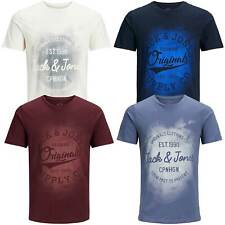 Jack & Jones Herren T-Shirt mit Rundhalsausschnitt | kurzarm Sport Clubwear