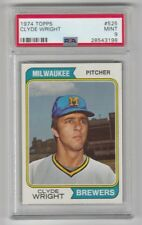 1974 TOPPS BASEBALL #525 CLYDE WRIGHT !! PSA 9 !! MINT !! BREWERS !!