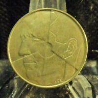 CIRCULATED 1993 5 FRANCS BELGIUM COIN (80819)1...FREE DOMESTIC SHIPPING!!!!!