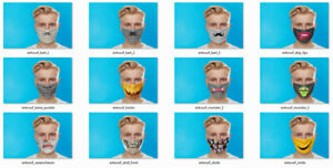 Behelfsmaske Mund-Nasen- Maske Gesichtsmaske Stoffmaske Behelfsmasken Mundschutz