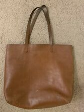 Madewell Large Transport Tote In Saddle Bag Brown Leather