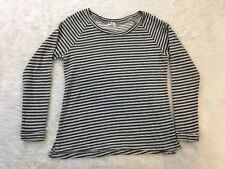 Kut From The Kloth Gray Black Multi Striped Long Sleeve Top Shirt Size Small S