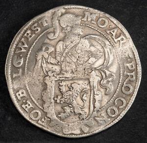 1638, Netherlands, West Friesland. Silver Lion Daalder (Dog Dollar) Coin. aXF!