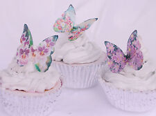 Butterfly Flower Cake Topper 10pc Edible Rice Paper Funeral Farewell Rose Lilly