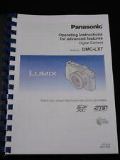 Panasonic Lumix LX7 Appareil Photo Imprimé MANUEL D'UTILISATION GUIDE Handbook 226 pages A5