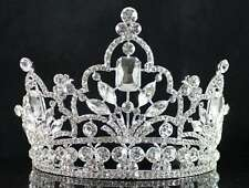 ATTRACTIVE CLEAR AUSTRIAN CRYSTAL RHINESTONE TIARA CROWN COMB PROM PAGEANT T1856