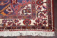 New Geometric RED Medallion Malayer Hamedan Area Rug Hand-made Accent Carpet 4x7