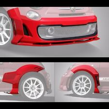 FIAT 500 5 Piece Body Kit, Fender Flares and Front Spoiler