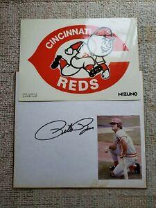Cincinnati Reds '78 JP Tour Pete Rose Autographed Signature Board + Sticker