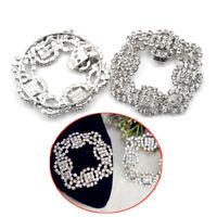 1PC Shoes Clips Rhinestone Crystal Flower Shoes Buckle Bridal Wedding Decor xd