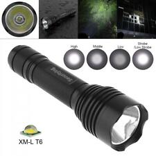 Waterproof XM-L T6 LED Flashlight Torch Lamp 5 Modes 6000K for Camping Hiking