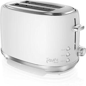 Swan Fearne ST20010TEN 800W 2 Slice Toaster Truffle