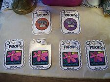 Iron On Patches/Flower Power and Party Diva Statin Embroidered In Various Colors