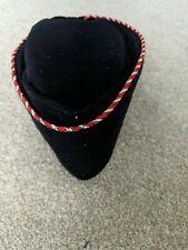 Vintage Girls Brigade Hat Red/White Braid