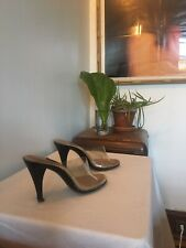 Pin Up Mules Clear Patent See Thru Fetish 50s 70s Vintage Punk Debbie Harry 4-5?