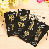 4*s Gold Plated Hollow Animal Feather Bookmarks Bookmark Book Paper Reading Pro~