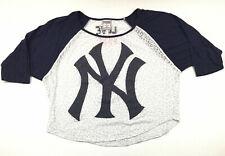 Love Pink Victorias Secret Womens T-Shirt New York Yankees Baseball Top Tee Sz M
