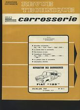 (32A)REVUE TECHNIQUE AUTOMOBILE SERVICE CARROSSERIE FIAT 125