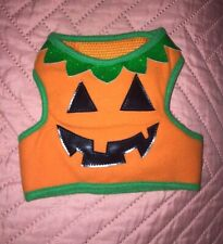 Dog Pet Costume Glitter VEST SHIRT  Small Medium Pumpkin Puppy F