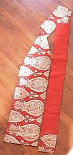 Japanese Nagoya Obi Sash Authentic Traditional Heavy Brocade Red & Gold
