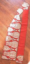 Authentic Traditional Japanese Nagoya Obi Sash - Heavy Brocade Red & Gold