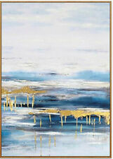YA1166 100% Hand-painted Abstract Gold foil oil painting on canvas Sky City