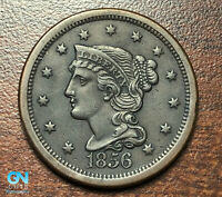 1856 Braided Hair Large Cent --  MAKE US AN OFFER!  #P4731