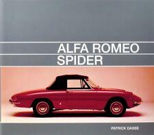 Alfa Romeo Spider (Tipo 105 1600 1750 2000 Junior Veloce Duetto) Buch book Dasse