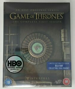 Game of Thrones: The Complete First Season Steel Book w/ Magnet (Region Free UK)