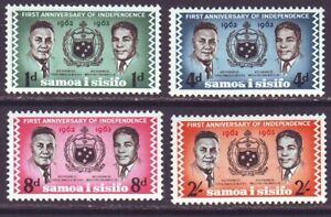 Samoa 1963 SC 233-236 MH 1st Anniversary