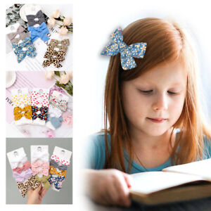 4Pcs/Set Baby Hair Clips Colorful Flowers Kids Girl Bow Hairpin Children Toddler