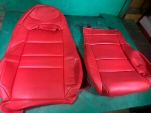 Oem Red Leather Left Driver Seat Cover Mazda RX7 FD3S