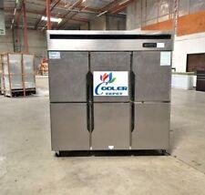 "New 6 Door Commercial Freezer 72"" x 29"" x 75"" 110V 220V Cooler Case Model RF46"