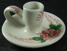 Pottery, Porcelain & Glass Ceramic Willie Winkie Style Candle Holder Made In Portugal