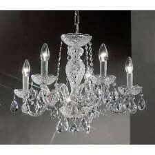 Classic Lighting Monticello Crystal All Glass Chandelier, Chrome - 8235CHI
